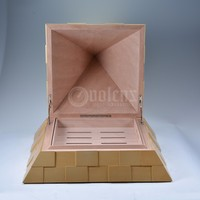 Empty Cigar Boxes Wooden Pyramid Golden Box Of Cigars