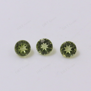 natural machine cut peridot loose stone for wholesale