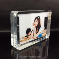 Transparent acrylic magnetic acrylic magnetic photo frame