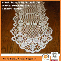 Polyester Beauty oval Lace Table Runner and Placemat