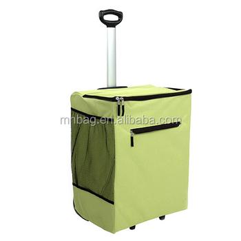 Rolling Laundry Hamper Trolley Bag Basket With Wheels