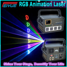 China High Standard Ilda 1w Multi Color Animation Laser Light Show With Scanner/rgb Laser Light