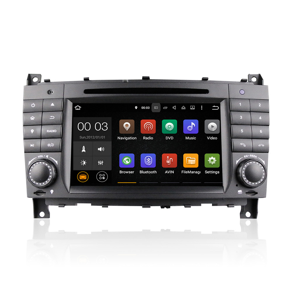 Winmark <strong>Android</strong> 5.1 Car Radio DVD Player GPS Sat Navi 7 Inch 2 Din For Mercedes-Benz C-Class C320 C350 2004-2008 DU7069