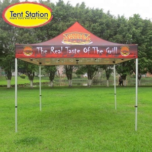 Dye Sublimation UV Protection Durable 600D PU Oxford High Quality Aluminum Folding Tent 3x3