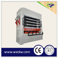 High quality automatic wood door hot/heat pressing machine
