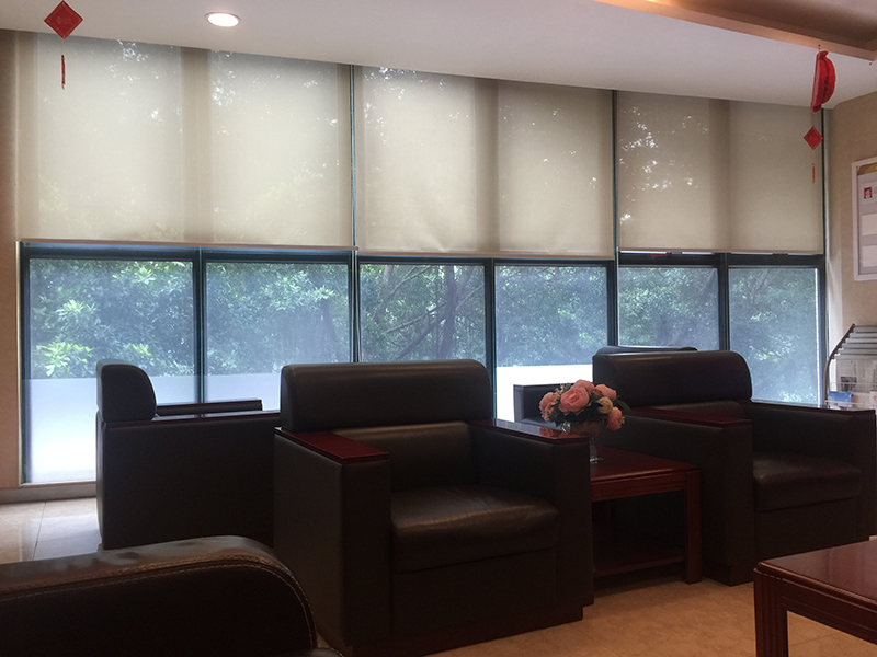 Hotel blackout roller blind shades NFPA701 flame retardant roller blinds