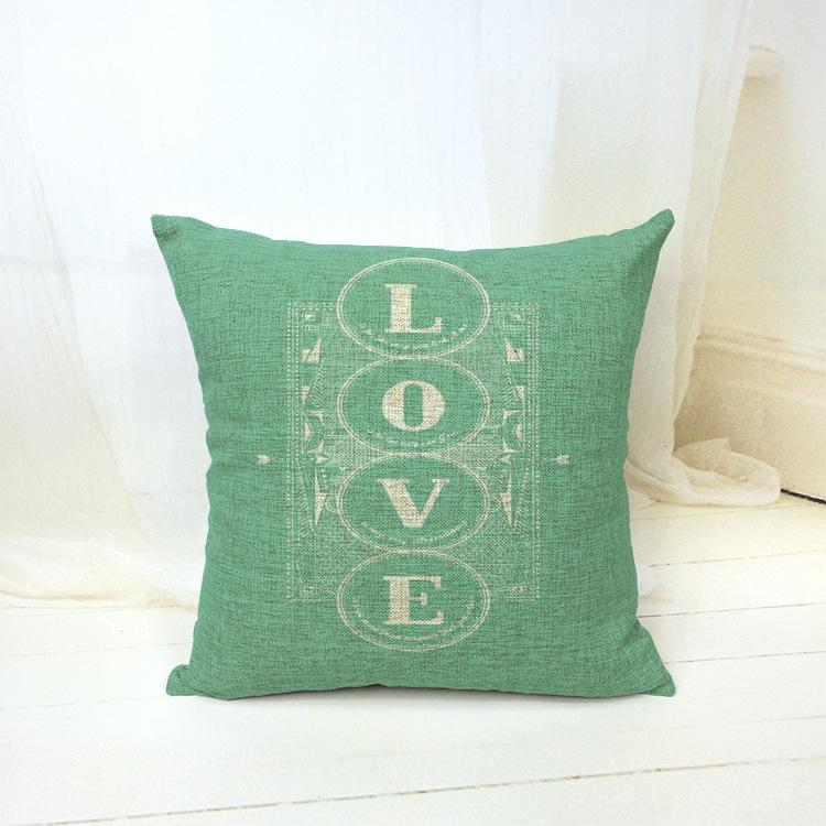 Scandinavian Retro Vintage Love Letter Decorative Pillow Kussens Home Decor Cushion Coussin Almofadas Cojines Cuscini Decorativi