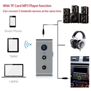 Car Blue tooth Aux Receiver Adapter Support TF Card Aux Audio Blue tooth Handsfree Car Kit A2DP Stereo Mp3 Music Receiver