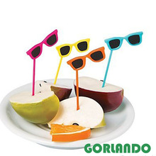 Cocktail Party Plastic Sunglasses Food Cupcake Picks