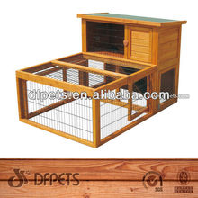 2 Story Waterproof Wooden Rabbit Hutches DFR046&Run