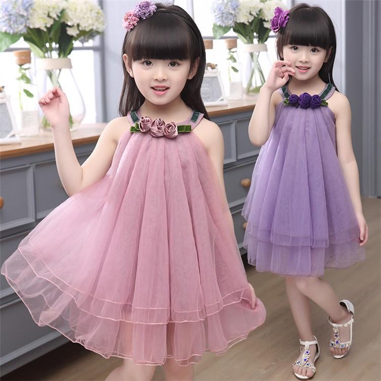 ca30840d15d New Summer Dress Indian Style Baby Girls Flower Dresses Fashion Net Frocks  Design Wholesale Girl Dress