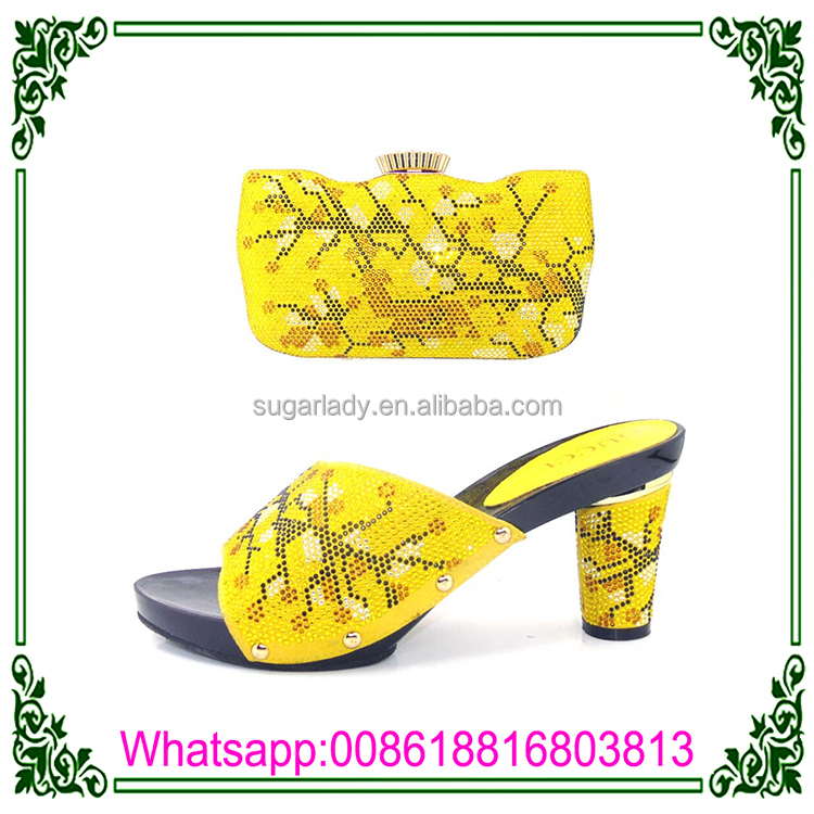African shoes set for High bag Wholesale life high matching daily Quality heel and girl YZqE6w
