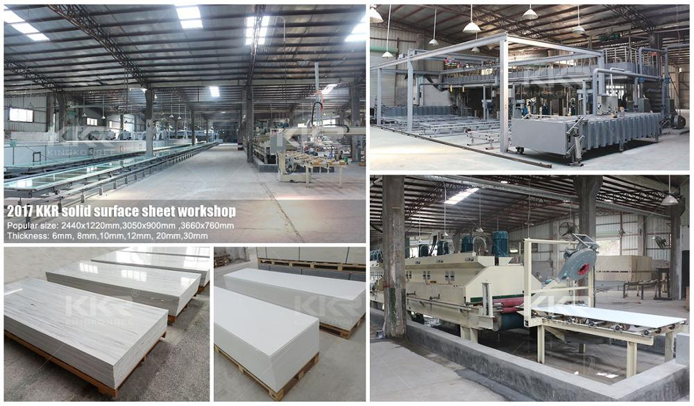 6-30mm épaisseur artificielle pierre échantillon gratuit polyester modifié feuilles de surface solides en acrylique pour comptoir