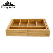 Bamboo Kitchen Tableware Extendable Utensil Cutlery Tray Drawer Organizer bamboo storage bamboo tray