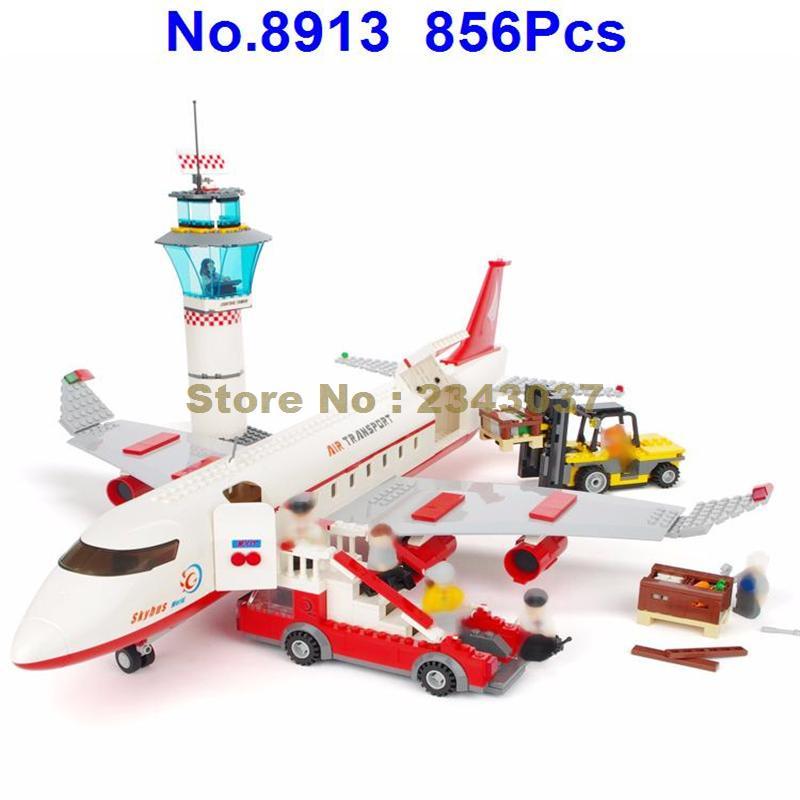 8913 856Pcs City Aviation Air Plane Large Passenger Aircraft Building Block