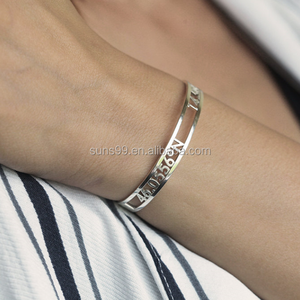 Numeral custom-made Coordinate Bangle cool girl Bracelet new design for daily for beauty