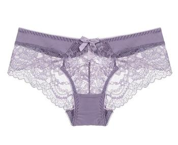 Wholesale transparent hipster girl lace panties