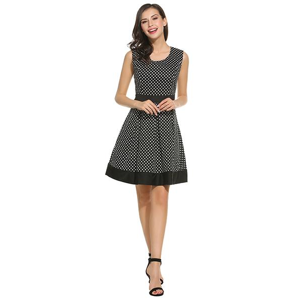Wholesale- ANGVNS Dot Vintage Dress Lady Summer Retro 1950s 60s Big ... a176add48649