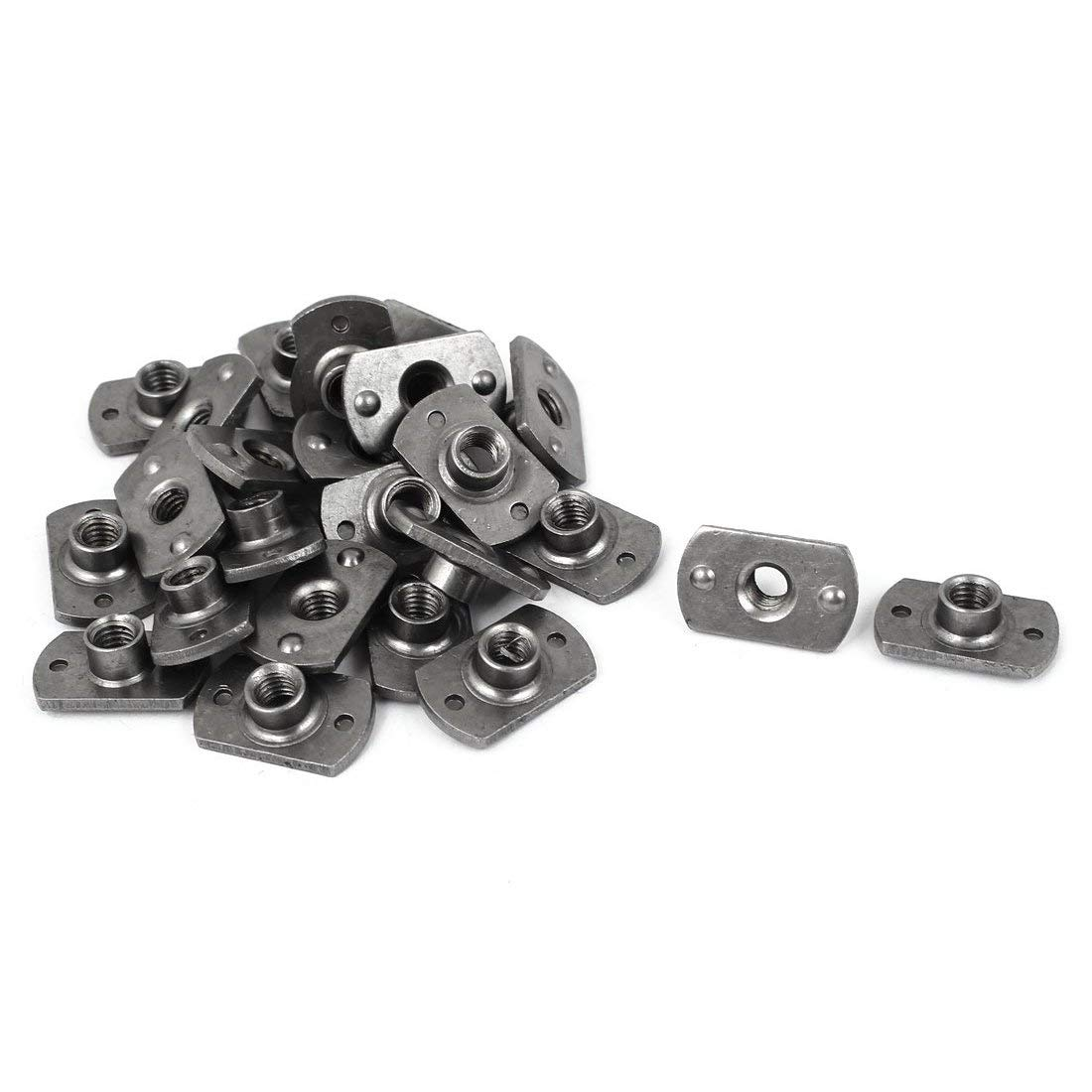 Get Quotations · SODIAL M6 Carbon Steel Slab Base T-Shaped 2 Projection  Weld Nuts 25 Pcs 6af2e83a512