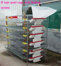 Galvanized wire mesh H type layer quail cages for sale with all quail cage accessories