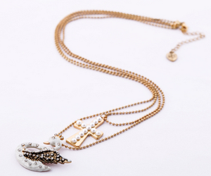 Rhinestone Artificial Jewellery Brands Pearl Cross Enamel Swan Pendant Necklace