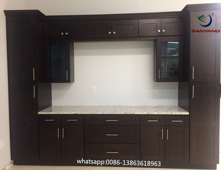 Hot Selling Espresso Shaker Wood Kitchen Cabinet With New Design Buy Hot Selling Espresso Shaker Wood Kitchen Cabinet With New Design Shaker Wood