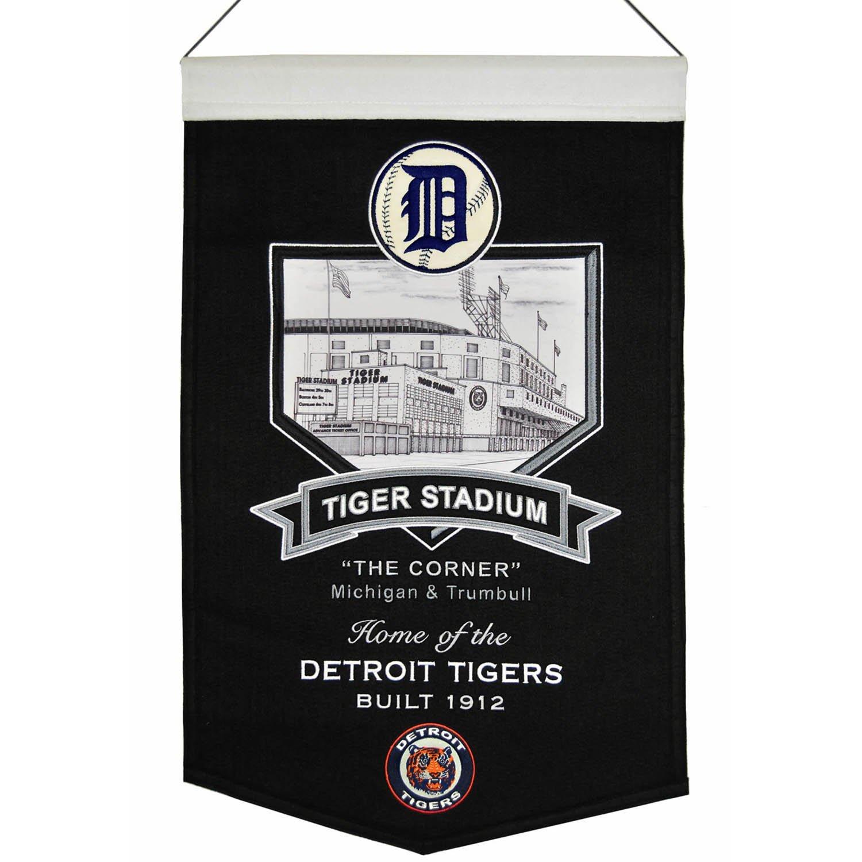 "Detroit Tigers Winning Streak Black Tiger Stadium ""The Corner"" Banner (15""x20"")"