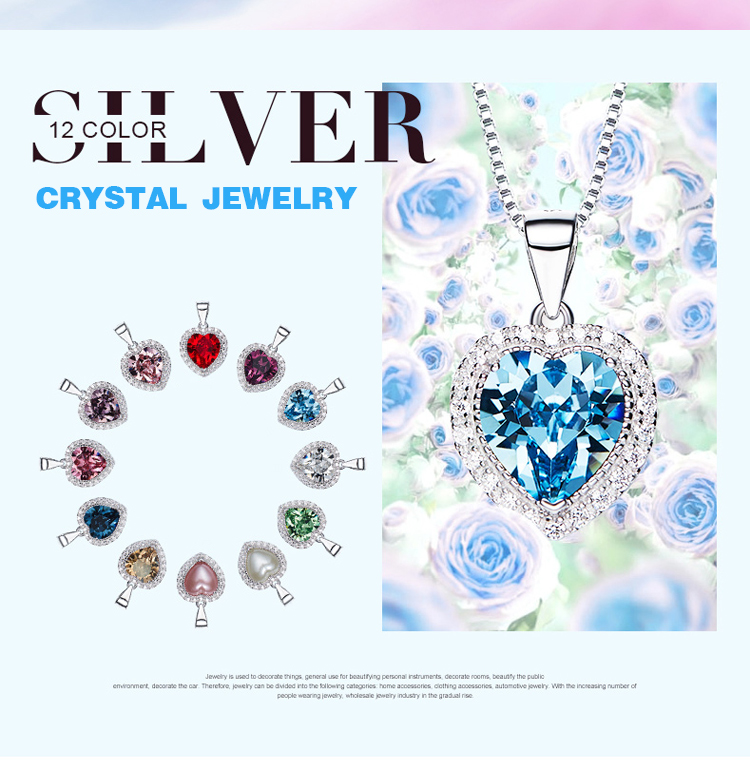 CDE Crystals from Swarovski 925 Silver Custom Fashion Crystal Jewelry