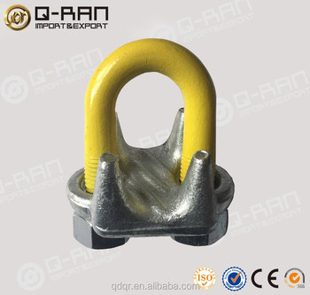 Steel Cable Connectors Drop Forged Wire Rope Gripper Grip - Buy ...