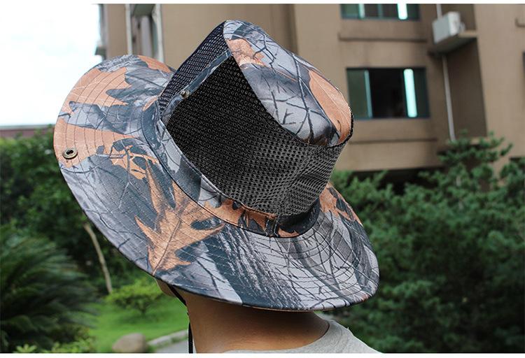 Summer Breathable Big Eaves Multi Purpoigse Camouflage Sun Visor Hat