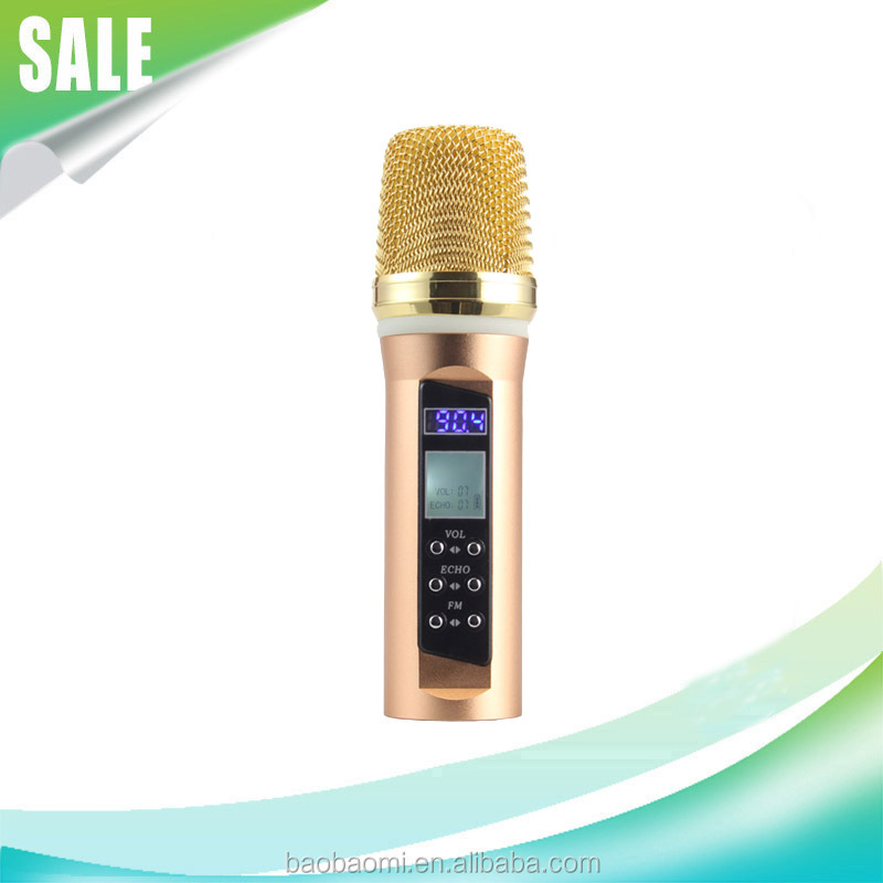 Bluetooth transmitter B20-5 Microphone Handheld With Good Quality FM Karaoke Songs Recording