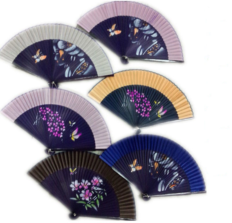factory brand custom bamboo paper folding hand fan