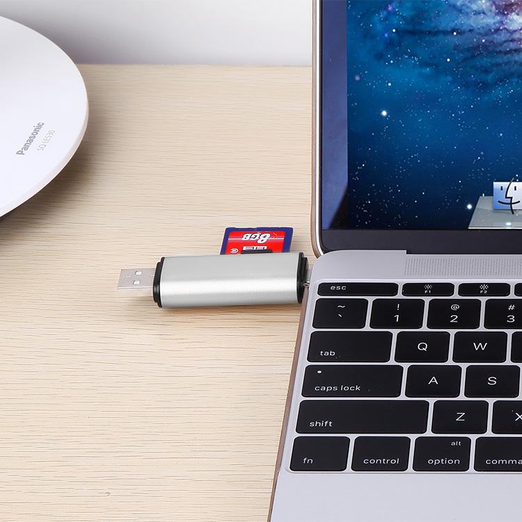 "Usb 3.1 Type-c T-flash Sd Card Reader For Apple Macbook 12"" Xiaomi ..."