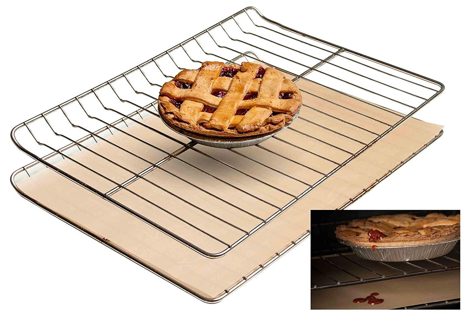 Baking Mats Silicone Non-stick Oven Liner Heavy Duty Reusable Easy to Clean Baking Mat 23 Inches X 16.25 Inches 1 Pcs