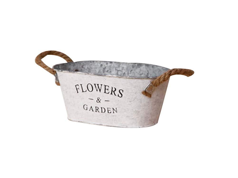 Panda Superstore L# Vintage Style Succulent Plant Iron Pots Decorative Flowerpot