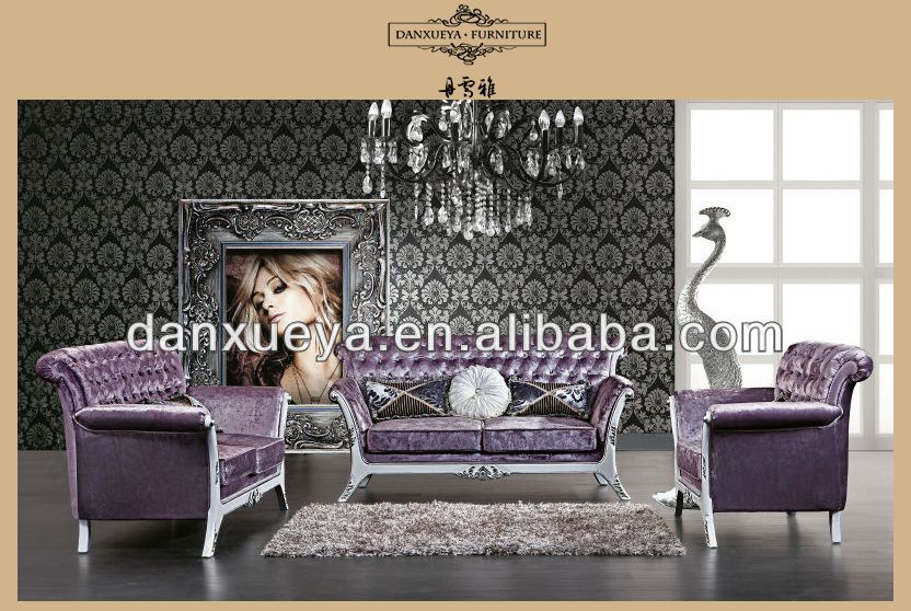 Baroque Style Living Room Sofa Set, Retro Wood Carving Living Room Furniture,  Whole Set Part 88