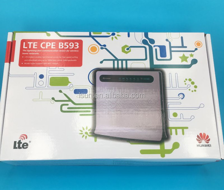 Huawei B593u-12 .B593s-22.b593u-91 100% original brand new and unlocked 4g lte cpe gateway router with lan port home router
