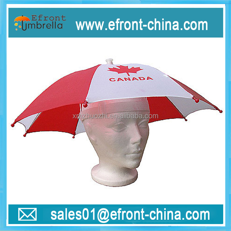 30 cm Head size flag print hat umbrella
