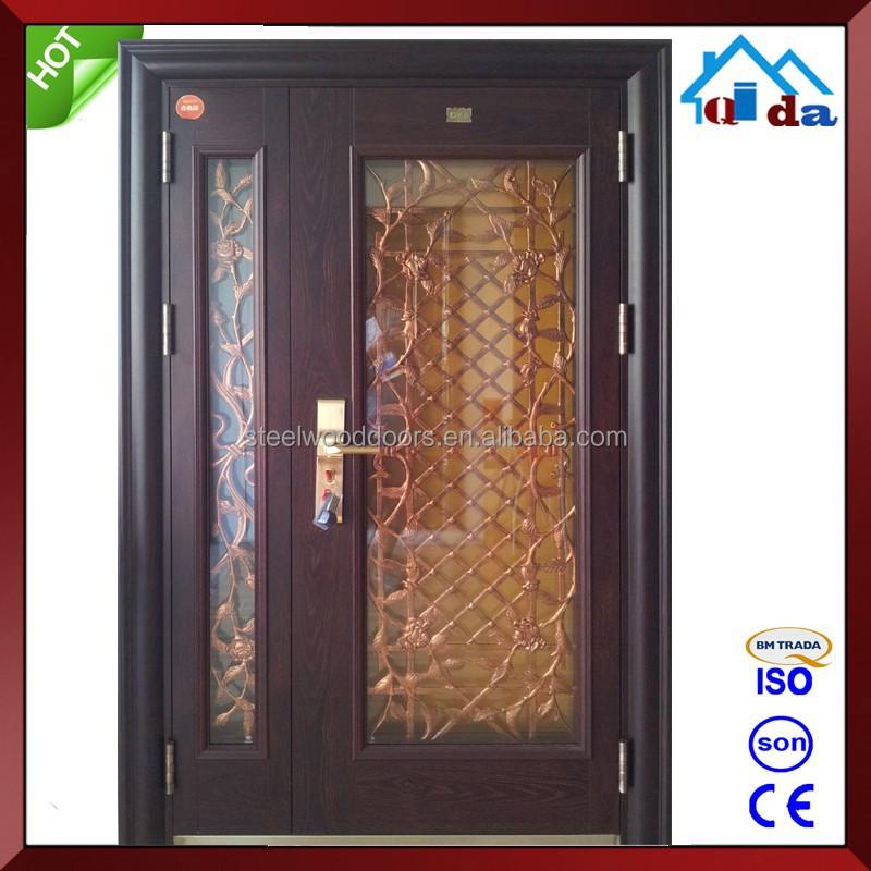 Dise o de doble metal exterior puerta de vidrio puertas for Puertas de metal con diseno