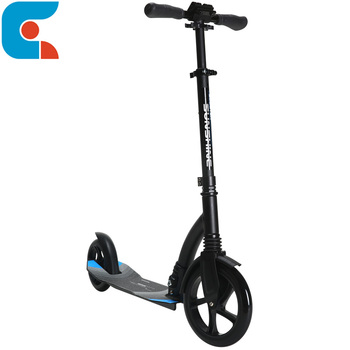 Air Chrome Light Weight Adult City Suspension Push Kick Scooter with Large 200MM Wheels