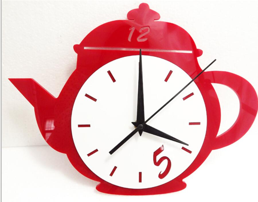 Buy A007 Teapot Wall Clock Bar Restaurant Kitchen Clocks Decor