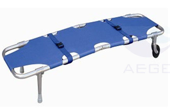 AG-2B2 approved high-strength hospital folding patient transfer stretcher carts