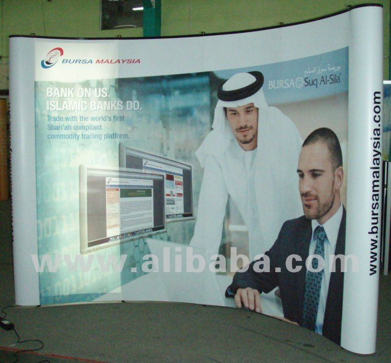 Pop Up Display 4x3, 10FT Curved Backdrop