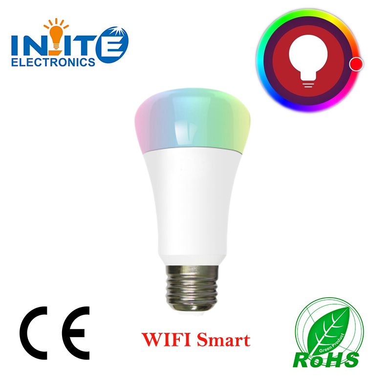7W Smart RGB White Led bulb Wifi Wireless remote controller led light lamp Dimmable bulbs E27 for IOS Android