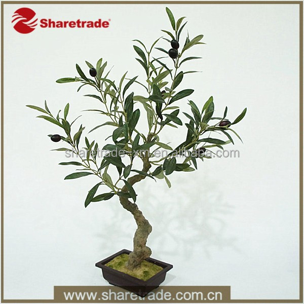 Factory Hot Sale High Simulation Artificial Potted Olive Plant Evergreen Tree For Decoration