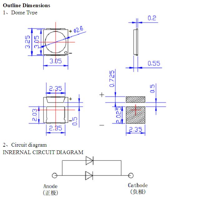 Diode Datasheet Of Smd 3030 Cree Chip Led