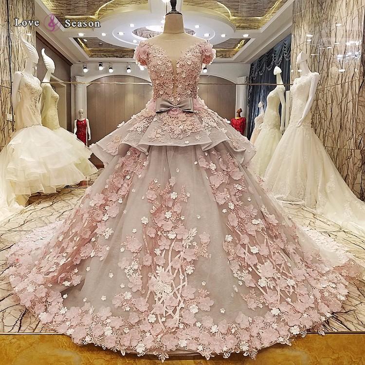 Ls83920 3d Flower Princess Fashion Pictures Of Latest Gowns Designer ...