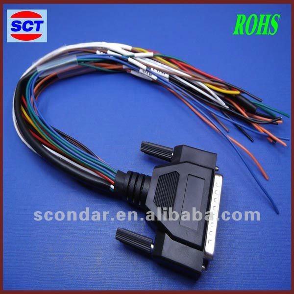 automotive wire harness for DB25 computer wire computer wiring harness wholesale, wiring harness suppliers alibaba