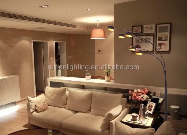 Beroemd 5 Boog Vloerlamp Zwart Metalen Staande Thuis Lamp - Buy Klassieke &OK19