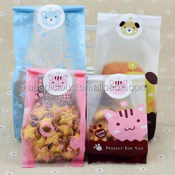Custom Printing Clear Plastic Bags For Cookies Packaging